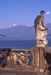 Villa Balbianello's terrace on Como lake view on lake and mountains