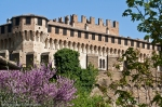 glimpse of the castel of Gradara, italian renaissance small town