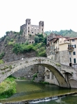 Dolceacqua in ligury with castle and medieval bridge