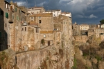 traditional houses in tuff stone in Pitigliano, Tuscany