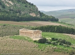 view from above of greek temple of Segesta in sicily italy