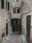alley of medieval village in italy