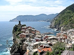 vew of vernazza center from the land to the sea