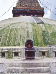 particular of the eyes of Buddah in Bodnath stupa in nepal
