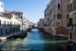 channel near the jewish ghetto in venice with bridge