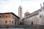 church in romanesque bell tower and palace in tuscan architecture